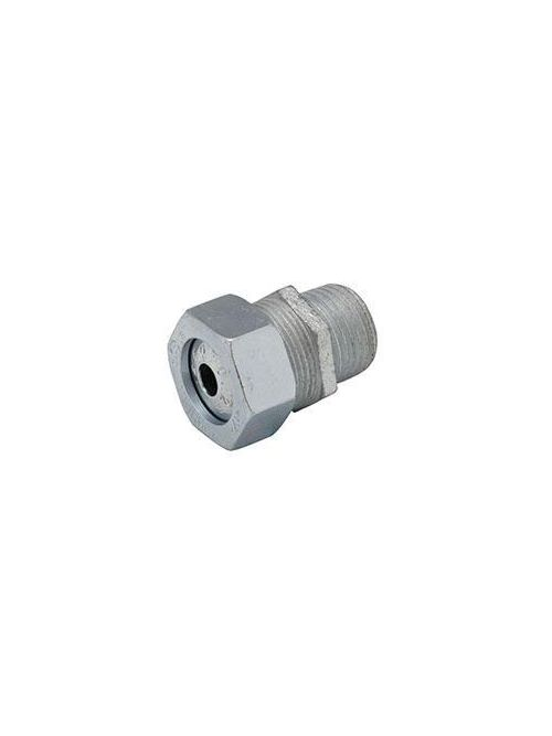 RACO 3702-5 1/2 Inch Threaded 0.375 to 0.5 Inch Zinc Electroplated Steel Form 2 Straight Strain Relief Cord Connector