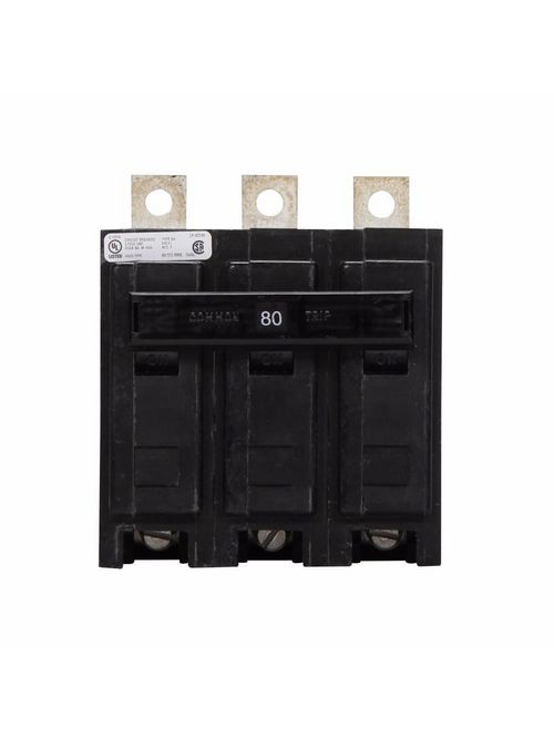 Eaton Electrical BAB3080H Quicklag Industrial Thermal Magnetic Circuit Breaker