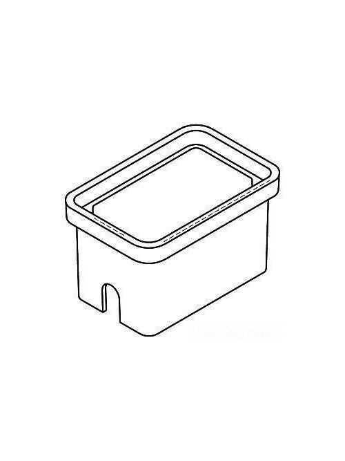 Quazite PG1118BA12 11 x 18 x 12 Inch Gray Polymer Concrete 22-Tier Rectangular Stackable Box