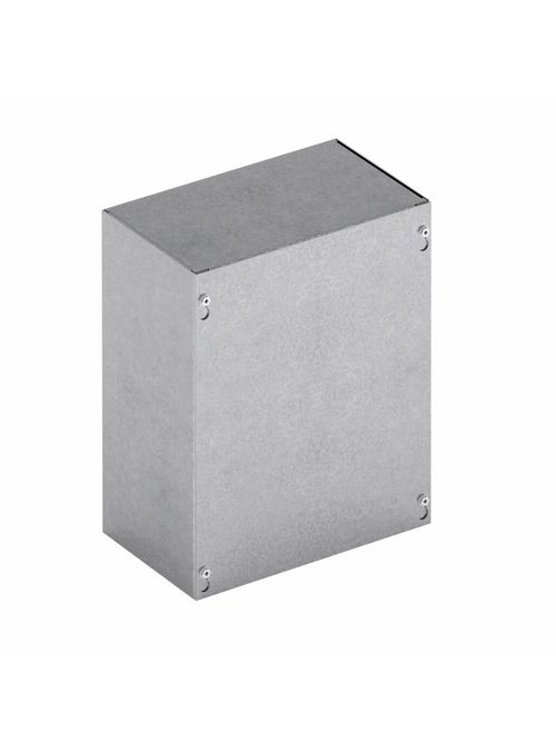 B-Line Series 12124 SC NK 12 x 4 x 12 Inch 16 Gauge Gray Painted Steel NEMA 1 Screw Cover Enclosure