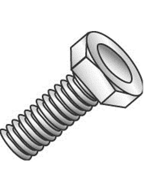 Minerallac 55216J 5/16-18 x 1 Inch Zinc Plated Grade 2 Steel Hex Head Machine Bolt