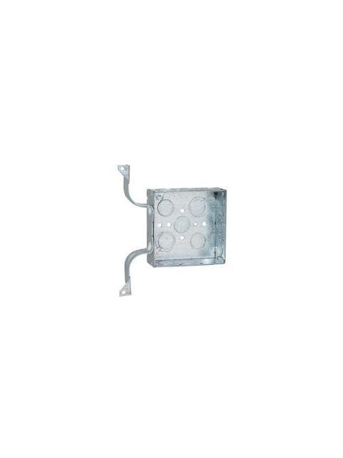 RACO 208 4 x 4 x 1-1/2 Inch 21 In Pre-Galvanized Steel W Bracket Flush/Ceiling/Wall Mount Welded Square Box