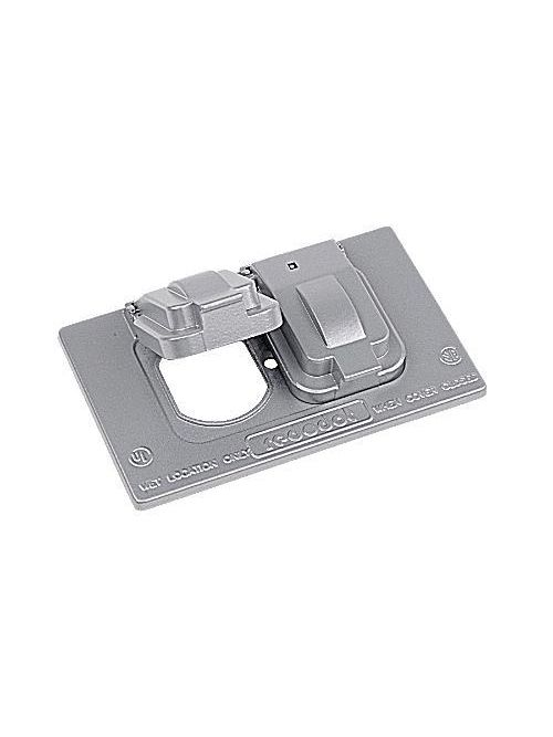 Red Dot CCD Single Gang Weatherproof Horizontal Device Mount Duplex Receptacle Cover
