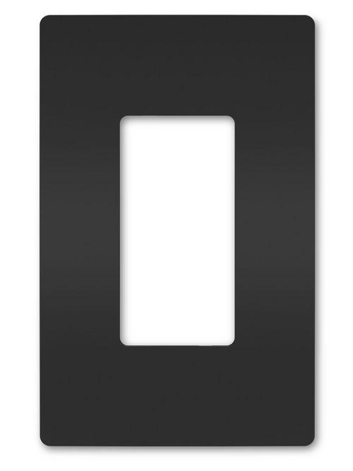 Pass & Seymour RWP26BK 1-Gang Black Polycarbonate Screwless Wallplate