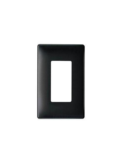 Pass & Seymour SWP26BK Plastic Sub-Plate Black 2-Gang Screwless Decorator Opening Wall Plate