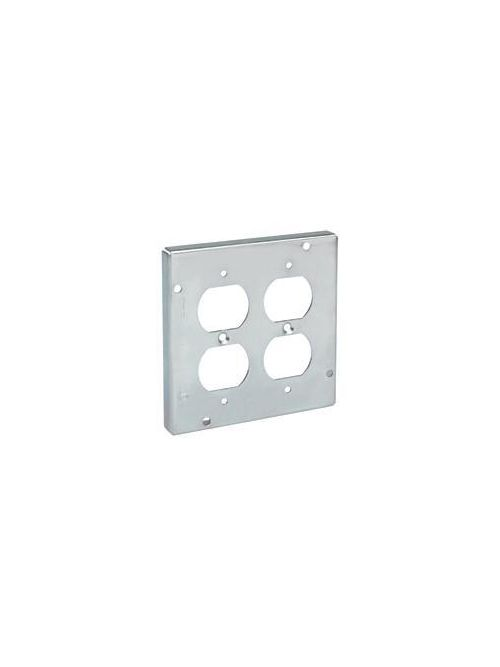Crouse-Hinds Series TP582 4-11/16 Inch 1-1/4 Inch Raised Steel 1-Device Square Box Cover