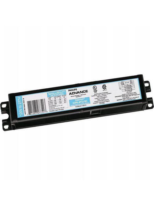 Philips Advance IOP4PSP32SC35M 120 to 277 VAC 50/60 Hz 32 W 4-Lamp T8 Electronic Ballast