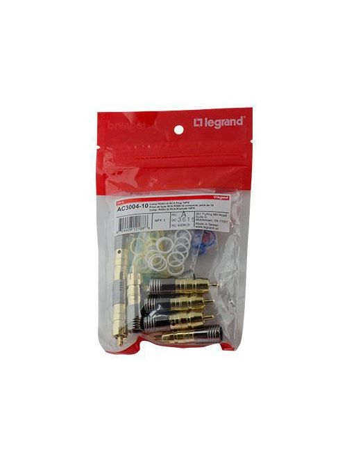 P&S AC3004-10 COMP GOLD RG6U-Q RCAPLUG 10PK (PRICED PER PACK OF 10)QTY 1 GETS A PACK OF 10