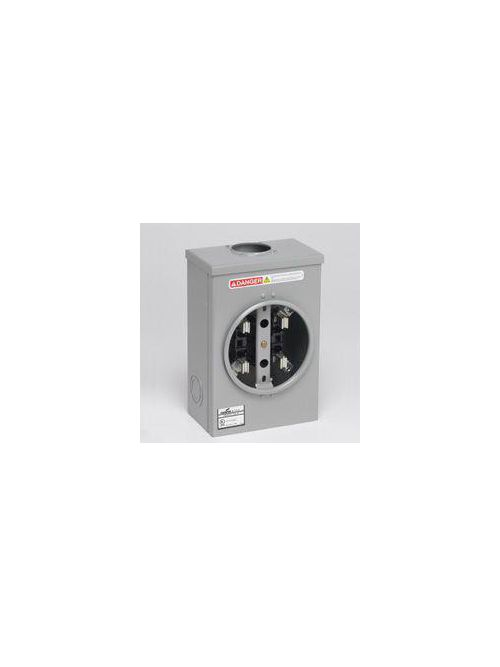 B-Line Series 011 125 Amp 1-Phase 4-Jaw Single Meter Socket without Bypass