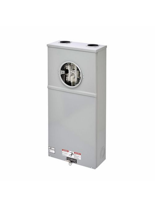 B-Line Series 127TB 600 Volt 200 Amp 3-Phase 4-Wire 7-Jaw CT Rated Single Meter Socket with Safety Socket Bypass