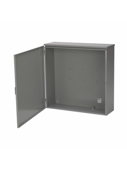 B-Line Series 244811 HRTCT 24 x 11 x 48 Inch 14 Gauge Galvanized Steel NEMA 3R Hinged Current Transformer Cabinet Enclosure