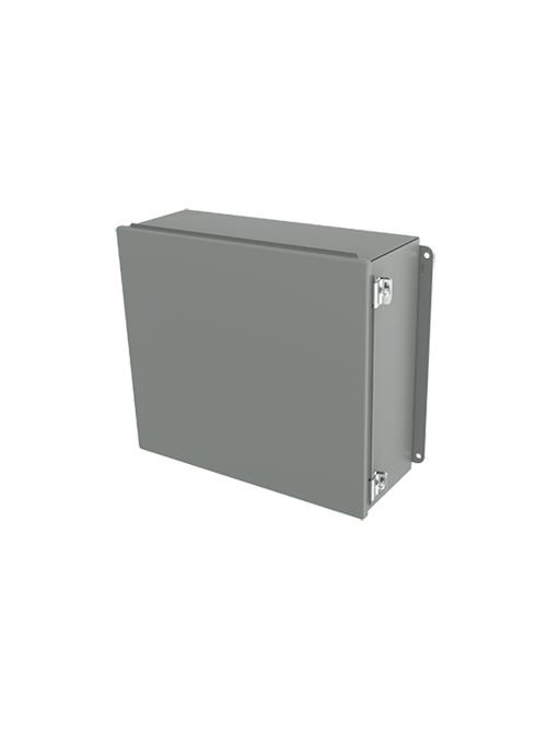 Hoffman A1412CHS 14 x 12 x 6 Inch 14 Gauge Steel NEMA 12 Junction Box Hinge Cover