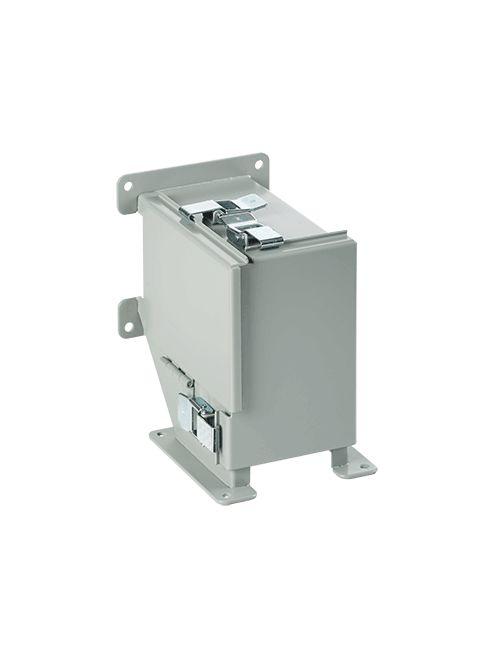 Hoffman F44LKOKT 4 x 4 Inch NEMA 12 Gray Steel Lay-In Counter Clockwise Wireway Straight Section