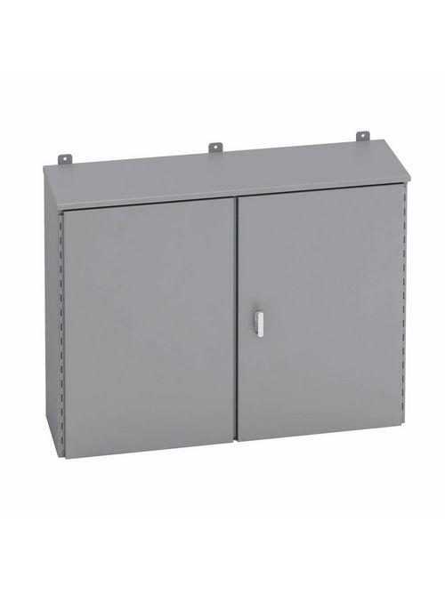 B-Line Series 364812DRHC 48 x 12 x 36 Inch 12 Gauge Gray Steel NEMA 3R 2-Door Enclosure