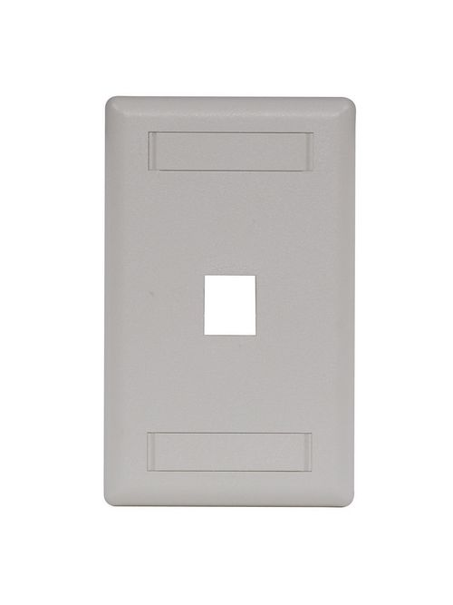 Hubbell Wiring Devices IFP11OW 1-Gang Office White 1-Port Data Communication Face Plate