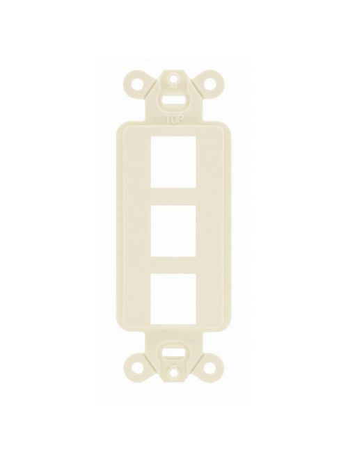 Hubbell Wiring Devices ISF3EI 1-Gang Ivory 3-Port Face Plate