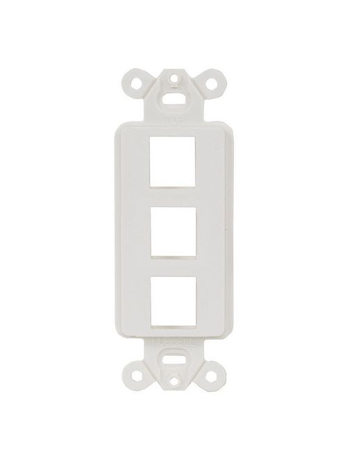 Hubbell Wiring Devices ISF3W 1-Gang White 3-Port Face Plate