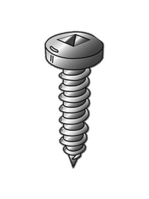 Minerallac 39551 395-Piece #6 Zinc Plated Steel Square Drive Pan Head Sheet Metal Screw Kit