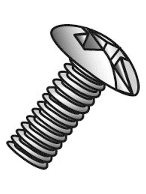 Minerallac 52265 1/4-20 x 4 Inch Zinc Plated Steel Combination Slotted/Phillips Drive Truss Head Machine Screw