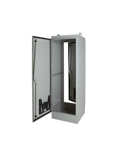 Hoffman A726018FSD 72.06 x 60.06 x 18.06 Inch White 12 Gauge Steel NEMA 12 2-Door Free Stand Enclosure