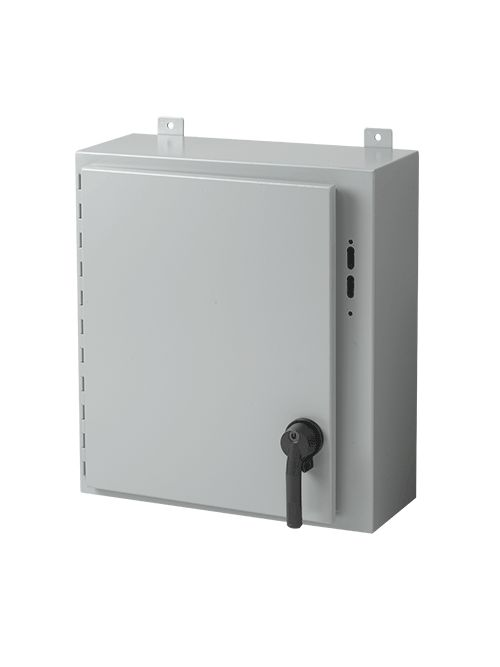 Hoffman A24SA2610LP 24 x 25.38 x 10 Inch White/Gray 14 Gauge Steel NEMA 12 Wall Mount Disconnect Enclosure