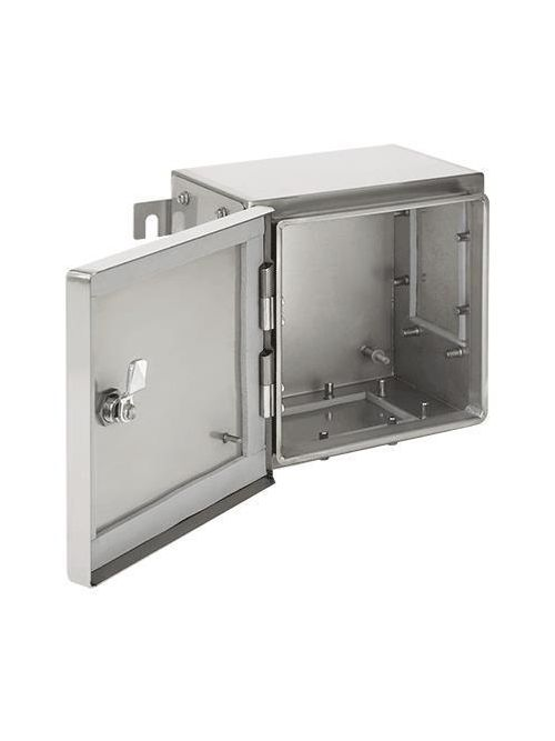 Hoffman ATEX503520SS61 500 x 350 x 205 mm 316 Stainless Steel Hinged Cover Hazardous Location Enclosure with 1-Gland Plate