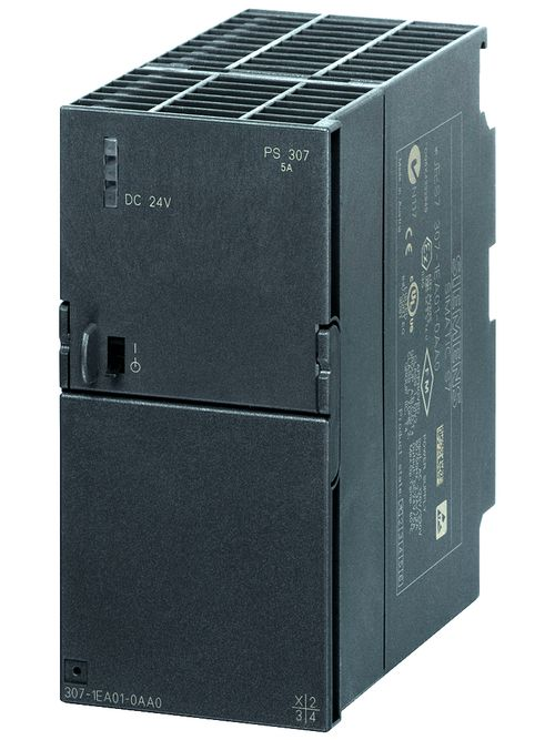 Siemens Industry 6ES73071EA010AA0 120 to 230 VAC Input 24 VDC 5 Amp Output Stabilized Power Supply