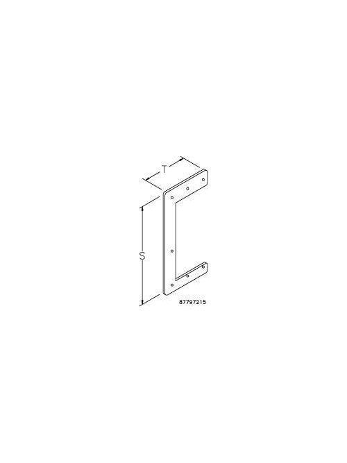 Hoffman F44HDSS 4 x 4 Inch NEMA 12 Gray Stainless Steel Feed-Through Wireway Drop Hanger