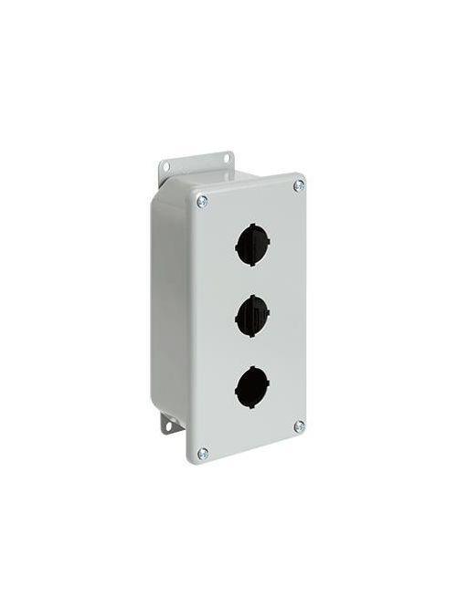 Hoffman E9PBGXM 8.5 x 7.25 x 4.25 Inch Gray 14 Gauge Steel NEMA 12 Push Button Enclosure