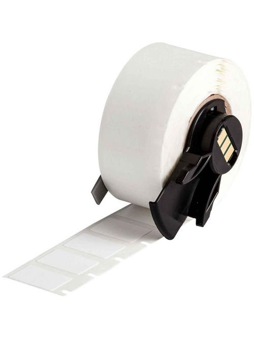 Brady PTL-11-499 500/Pack 0.5 x 0.75 Inch Nylon Cloth White Matte Label Roll