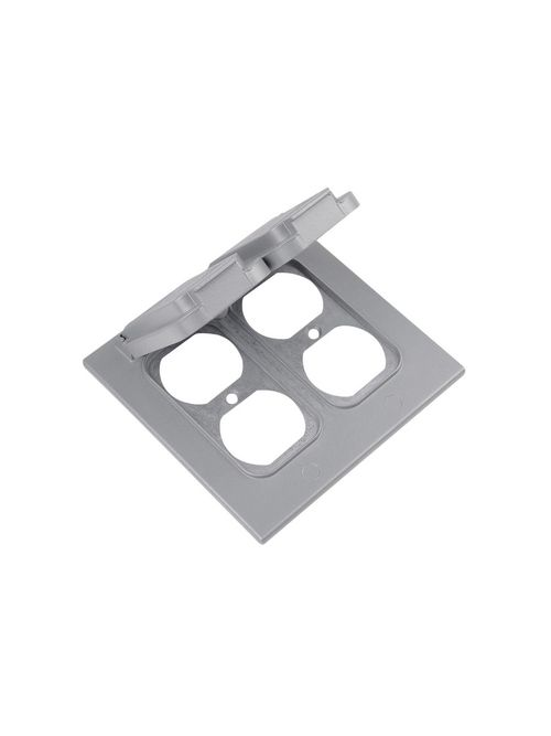 Red Dot 2CCD 2-Gang Duplex Receptacle Cover