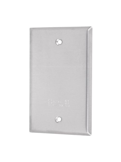 Red Dot DCCB Silver Stamped Aluminum 1-Gang Weatherproof Device Receptacle Box Cover