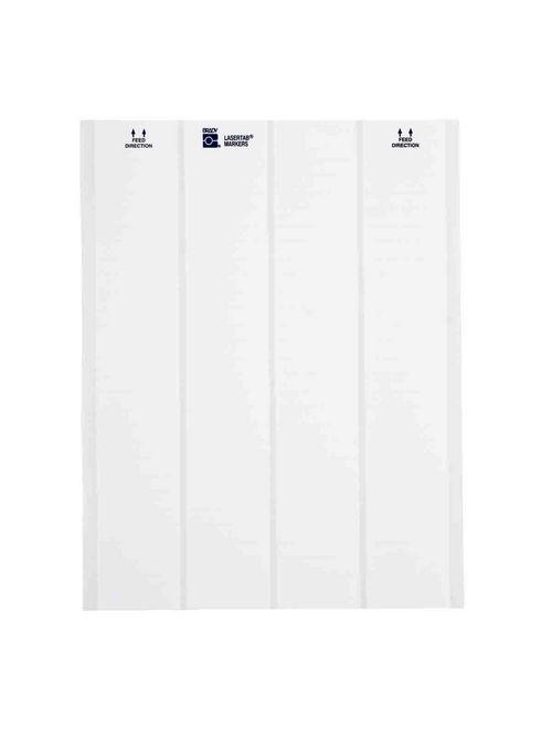 Brady LAT-3-747-10 0.65 x 0.25 Inch Laser Pet White Self Laminating Label Sheet