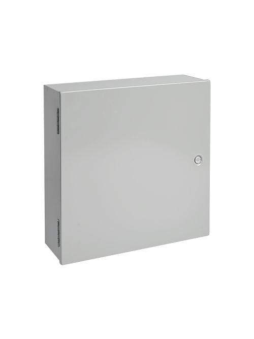 Hoffman A30N30BLP 30 x 30 x 8.62 Inch Gray 12 Gauge Steel NEMA 1 Medium Hinge Cover Enclosure