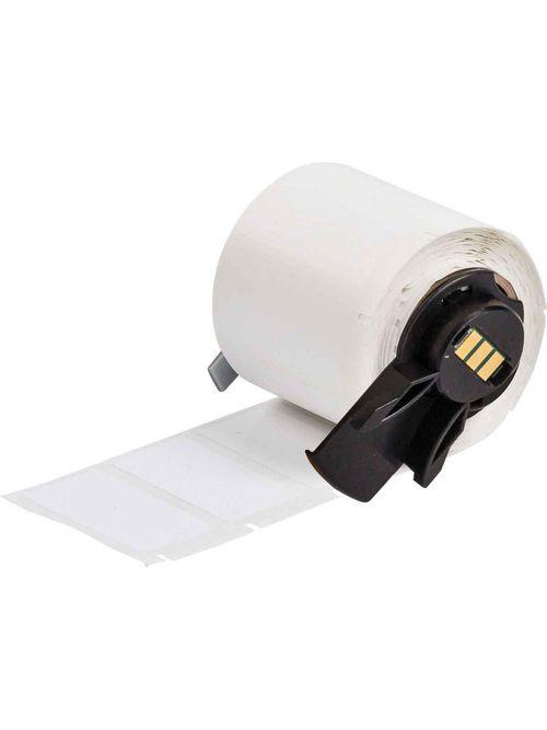 Brady PTL-29-498 1.5 x 0.5 Inch Vinyl Cloth White Semi-Gloss Label Roll