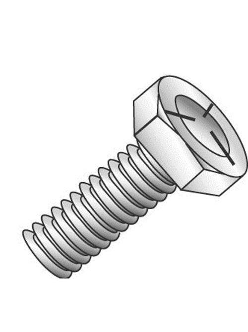 Minerallac 55813J 1/2-13 x 3/4 Inch Zinc Plated Grade 5 Steel Hex Head Cap Screw