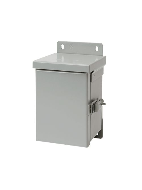 Hoffman A12R126HCR 12 x 12 x 6 Inch 16 Gauge Galvanized Steel NEMA 3R Hinge Cover Enclosure