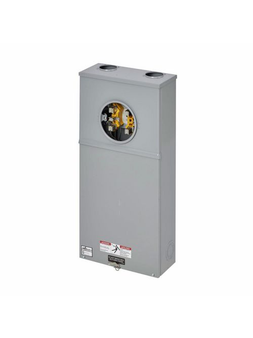B-Line Series 125 TB 600 Volt 200 Amp 3-Phase 3-Wire 5-Jaw CT Rated Single Meter Socket with Safety Socket Bypass