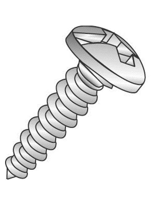 Minerallac 18821-6 #8 x 1-1/4 Inch Zinc Plated Steel Combination Slotted/Phillips Drive Pan Head Sheet Metal Screw