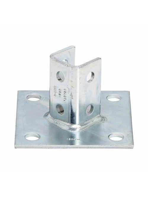 B-Line Series B280ZN 6 x 6 x 3-1/2 Inch Zinc Plated Channel Post Base