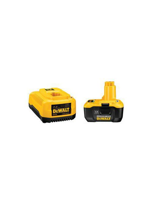 Stanley Black & Decker DC9180C Heavy Duty 1 Hour Charger and 18 Volt Nano Technology Battery Pack