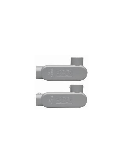 Crouse-Hinds Series LL85 CGN 3 Inch Die-Cast Aluminum Type LL Rigid/IMC Conduit Body and Cover with Gasket