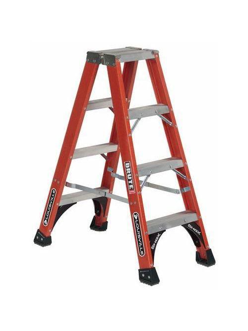 Louisville Ladder FM1404HD 4 Foot 375 lb Duty Rating Fiberglass Twin Front Ladder