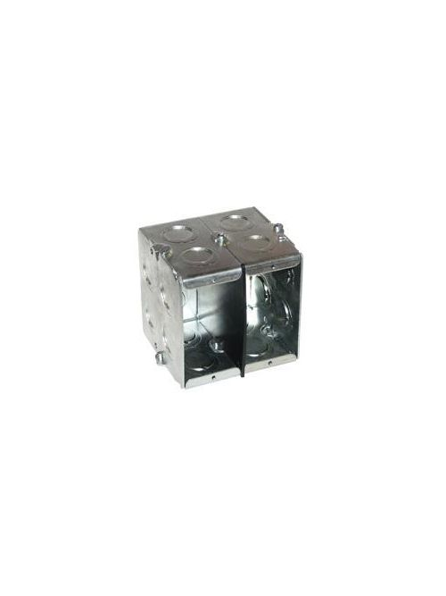 Crouse-Hinds Series TP685 7-3/8 x 2-1/2 x 3-3/4 Inch Steel 4-Gang Masonry Box