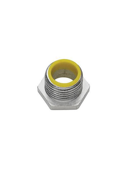 Crouse-Hinds Series 1054 1-1/2 Inch Malleable Iron Insulated Threaded Rigid Conduit Bushed Nipple