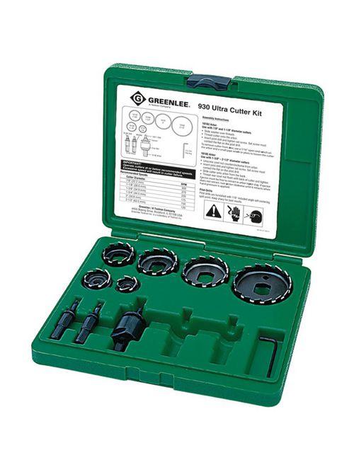Greenlee 930 13-Piece High Speed Steel Ultra Hole Cutter Kit