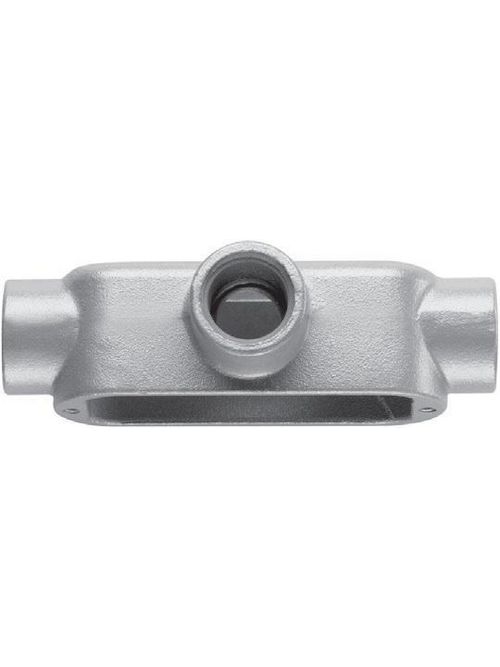Crouse-Hinds Series T200M CG 2 Inch Malleable Iron Form5 Type T Threaded Rigid Conduit Body and Cover with Gasket