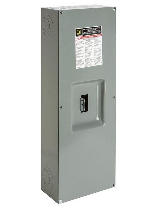 Square D Q23225NS 225 Amp 9.88 x 4.75 x 26.25 Inch Steel NEMA 1 Circuit Breaker Enclosure