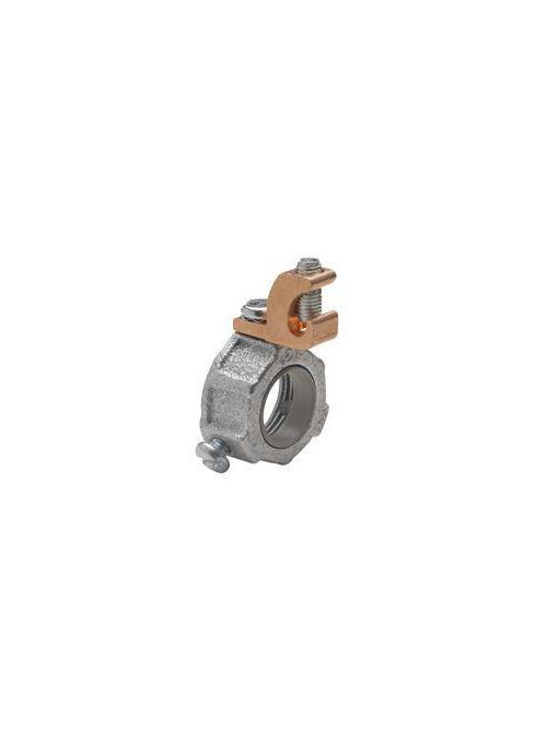 """Crouse-Hinds HGLL 3 1"""" Malleable Iron 150 Degrees C Insulated Threaded Conduit Grounding Bushing"""