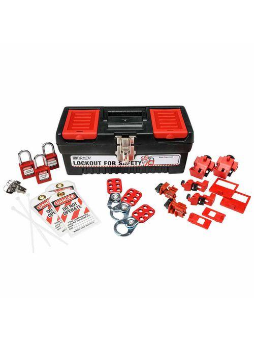 Brady 105964 Kit Lockout Breaker Personal Toolbox with 3 Safety Padlocks